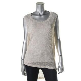 Eileen Fisher Womens Linen Sleeveless Pullover Top - M