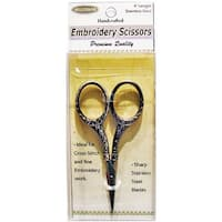 Gold Round Handle - Heirloom Embroidery Scissors 4""