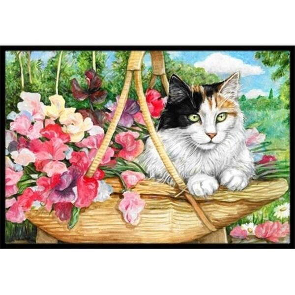 Carolines Treasures CDCO0178MAT Cat in Basket Indoor or Outdoor Mat 18 x 27