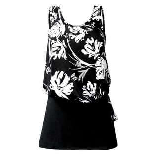 Blouson Tankini Top with Black Skirt in Black & White Floral Print|https://ak1.ostkcdn.com/images/products/is/images/direct/06af143702ea6acc14fce67def0be07e96eb6cc4/Deep-Blue-by-Oxygen%27s-Blouson-Tankini-Top-with-Black-Skirt-in-Black-%26-White-Floral-Print.jpg?impolicy=medium