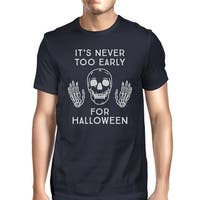It's Never Too Early For Halloween T-Shirt Mens Navy Skull Shirt