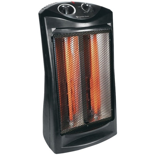 Comfort Zone Czqtv007Bk 1,500-Watt Radiant Quartz Tower Heater