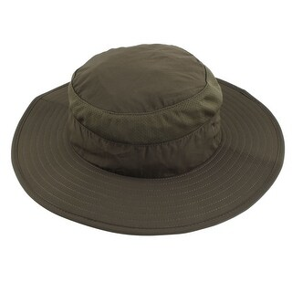 Outdoor Sports Wide Brim Removable Neck Protector Cloth Fishing Hat Army Green
