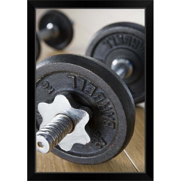 """Weights"" Black Framed Print"