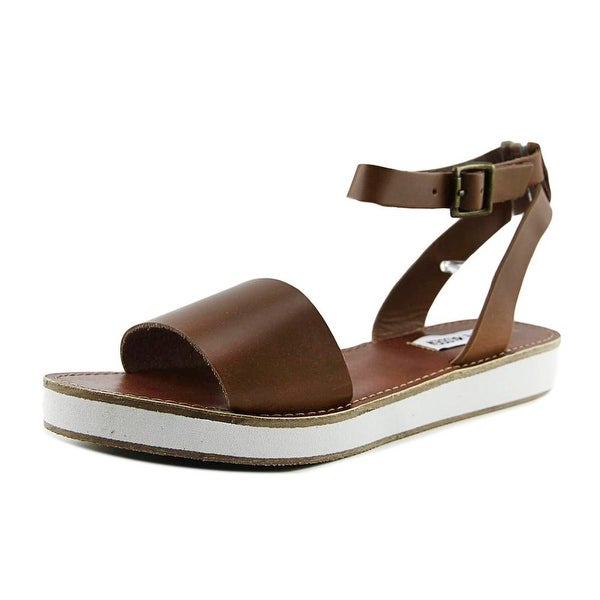 Steve Madden Miley Women Open-Toe Leather Brown Slingback Sandal