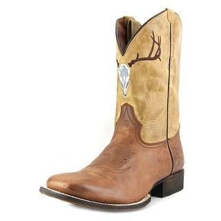American Rebel Boot Company Buck Skull Men Square Toe Leather Western Boot