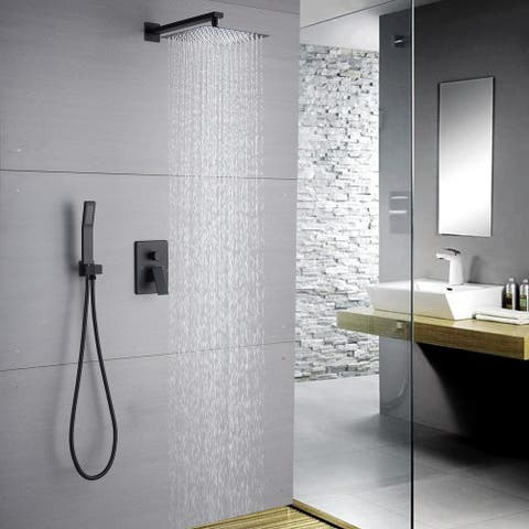 Shower System Black Shower Faucets Sets Complete with Two functions