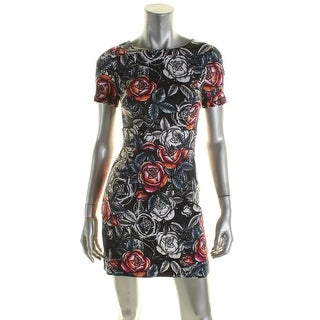 French Connection Womens Casual Dress Floral Rose Cotton - 0