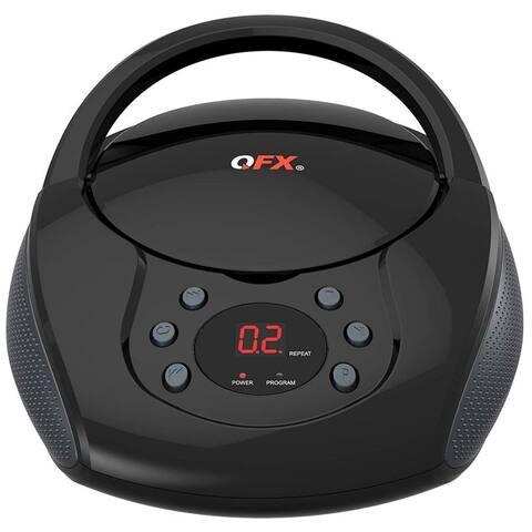 Portable AM FM Radio CD Player Black