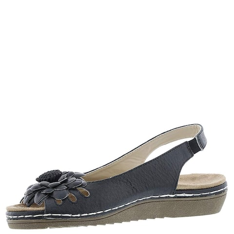 Beacon Women's Shoes Sugar Leather Open Toe Casual Slingback Sandals