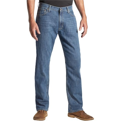 Wrangler Mens Classic Regular Fit Jeans, Blue, 42W x 30L