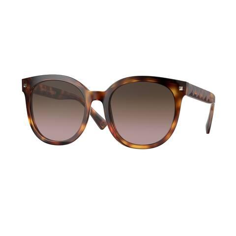 Valentino VA4083 501114 55 Havana Woman Round Sunglasses