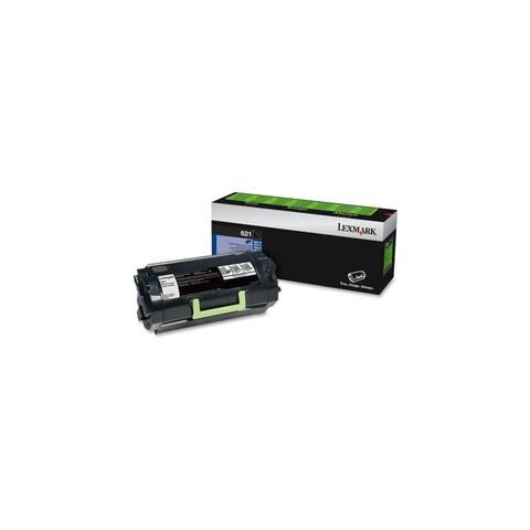 Lexmark 62D1000 Lexmark 621 Return Program Toner Cartridge - Black - Laser - 6000 Page - 1 Each