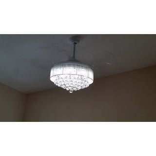Top Product Reviews For 42 Inch Foldable 4 Blades Led Ceiling Fan Crystal Chandelier 18088605