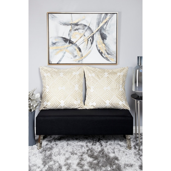 Gold Polystone Contemporary Framed Wall Art Abstract 30 x 40 x 2 - 40 x 2 x 30. Opens flyout.