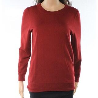 J.Crew Red Womens Size Medium M Wool Long Sleeve Crewneck Knit Top