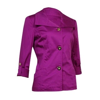 Charter Club Women's Collared Button-Down Jacket - s