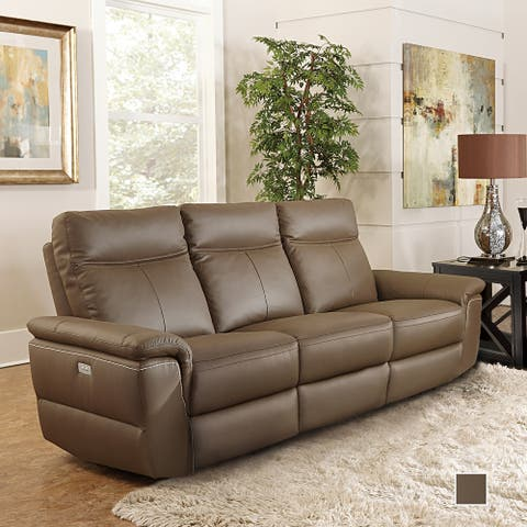 Southgate Leather Power Double Reclining Sofa