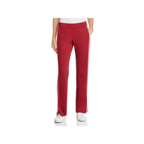 Pam & Gela Womens Track Pants Side Slit Striped