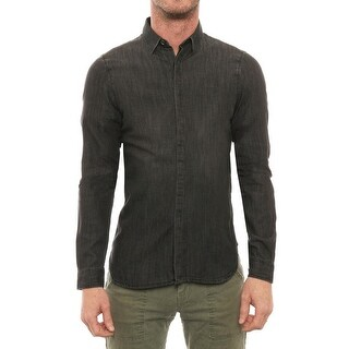 The Kooples Long Sleeve Collared Button Down Men Regular Casual