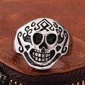 Vienna Jewelry Aztec Stainless Steel Skull Ring - Thumbnail 1