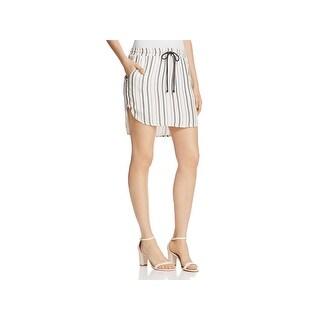 Bella Dahl Womens Mini Skirt Linen Striped