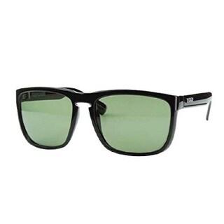 Carve Eyewear Response Shiny Black With Polarized Green Lens