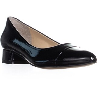 Ivanka Trump Larrie Pointed Toe Kitten Heels, Black Patent