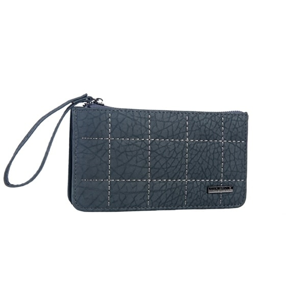 Mad Style Grey 3 Compartment Phone Wristlet