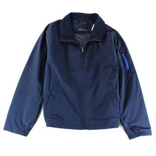 Nautica NEW Bluej53050 Mens Size XL Full Zip Windbreaker Jacket
