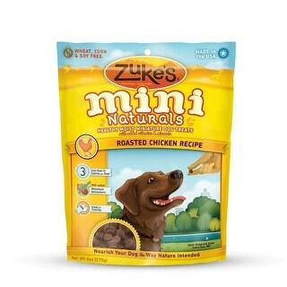Zuke's Mini Naturals Moist Miniature Treat for Dogs Roasted Chicken 6oz.