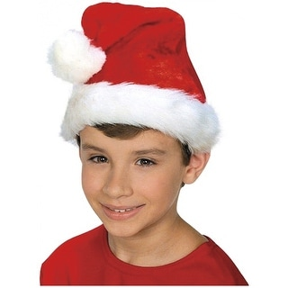 Kids Plush Santa Hat Child Costume Accessory