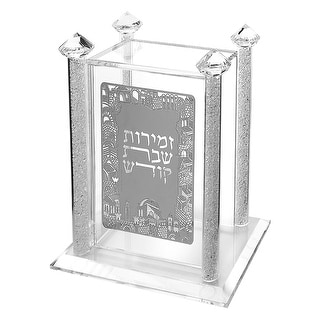 Crystal Zemiroth Holder With Silver 7x4.12x8.14""