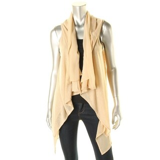 Grace Elements Womens Knit Contrast Trim Cardigan Top - S