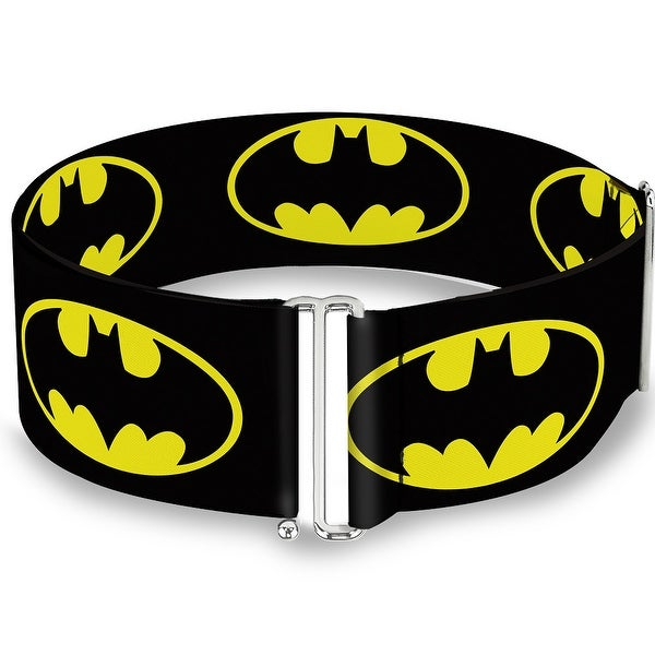 Batman Shield Black Yellow Cinch Waist Belt ONE SIZE