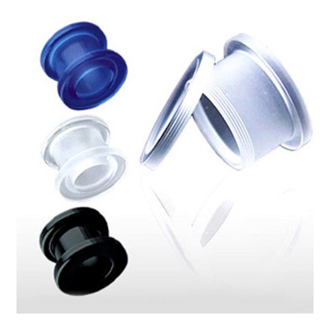 All UV Light Reactive Acrylic Screw Fit Flesh Tunnels (Sold Individually)