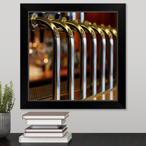 """""""Close-up of bar taps"""" Black Framed Print"""