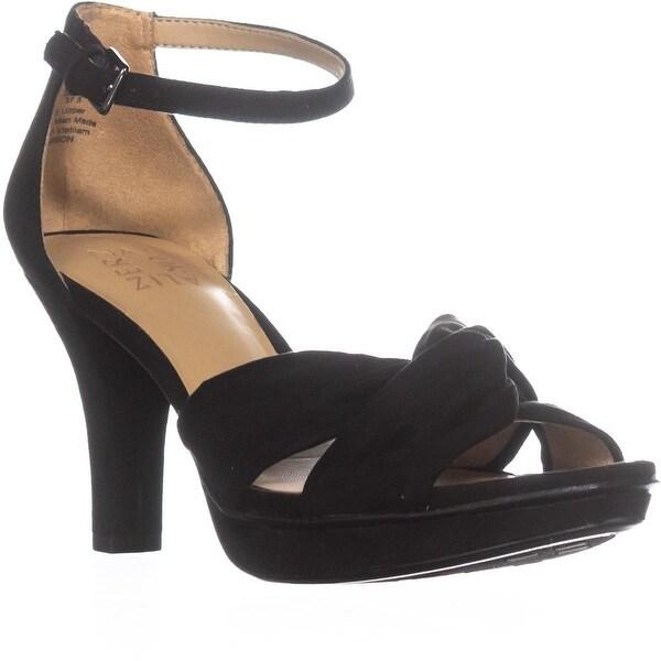 naturalizer Dawson Knot Ankle Strap Sandals, Black - 7.5 us / 37.5 eu