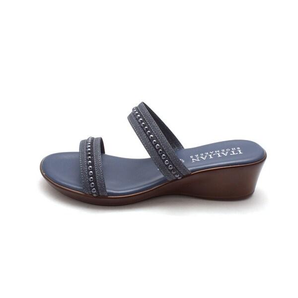 ITALIAN Shoemakers Womens erin Open Toe Casual Platform Sandals
