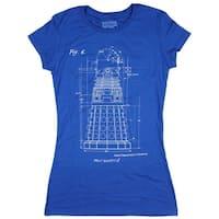 Doctor Who: Dalek Blueprint Juniors T-Shirt (Heather Royal)