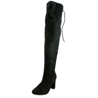 Chinese Laundry Bachelorette Women Round Toe Canvas Black Over the Knee Boot