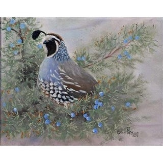 Juniper & Quail Poster Print by Julie Peterson, 11 x 14 - Small