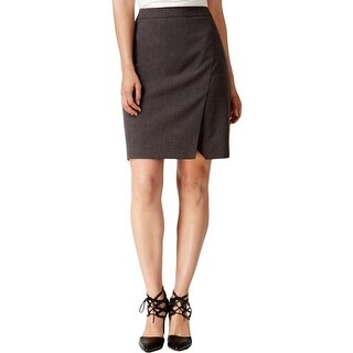 Laundry by Shelli Segal Womens Pencil Skirt Faux Wrap Above Knee