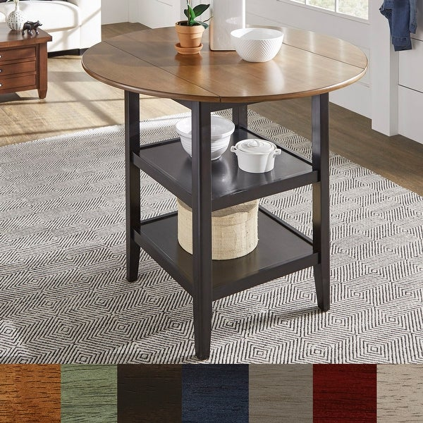 Eleanor Drop Leaf Round Counter Height Table by iNSPIRE Q Classic. Opens flyout.