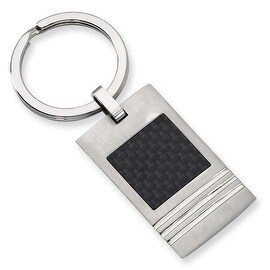 Chisel Black Carbon Fiber and Brushed Stainless Steel Key Ring