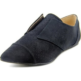 Qupid Pointer-23 Pointed Toe Synthetic Flats