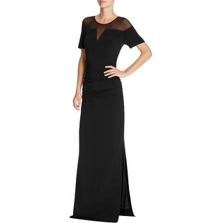 Laundry by Shelli Segal Womens Evening Dress Ruched Mesh Inset
