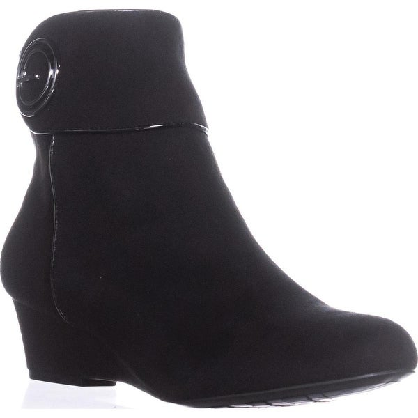 Impo Goya Wedge Ankle Boots, Black - 8 us