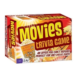 Movies Trivia Game - Portable Car Activity - Ages 12 and Up - multi-color