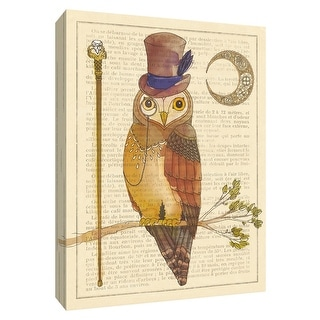 """PTM Images 9-154956  PTM Canvas Collection 10"""" x 8"""" - """"Steampunk Owl II"""" Giclee Owls Art Print on Canvas"""